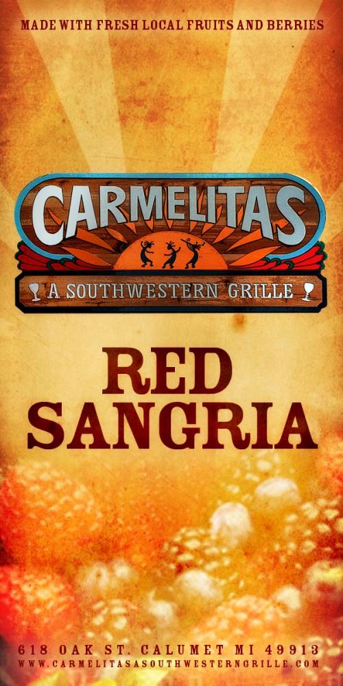 Carmelitas Red Sangria Label | Base Nine StudiosBase Nine Studios